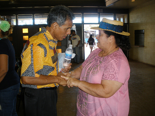 Lt. Governor meets and greets at Ka Hula Piko