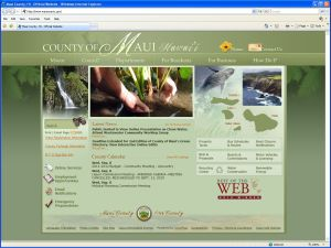 The Maui County website has agendas of all its meetings and information on how to receive agendas via email.