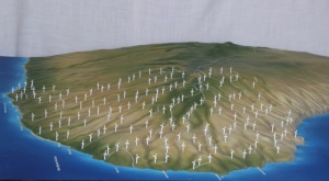 A possible view of the proposed Lanai windmills.