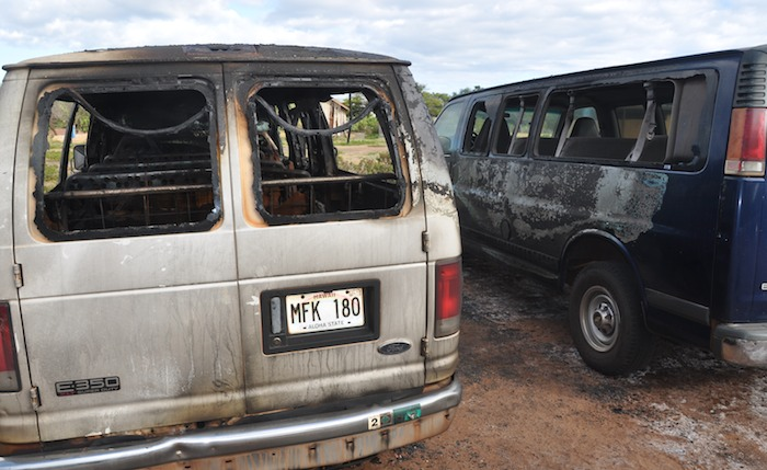 Molokai Outdoors loses two vans in suspected arson