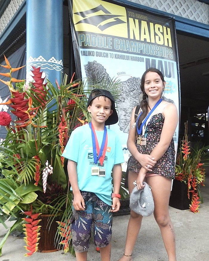 A year later, two local youth paddlers show improvement at the Naish Paddle Championships