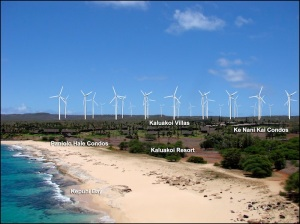 Who is behind anonymous phone survey asking about Molokai Ranch, wind turbines and the undersea cable?