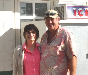 Susan and Tim Forsberg, owners of Molokai Fish and Dive, now operate the gas station on Ala Malama Avenue in Kaunakakai.