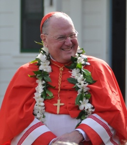 His Eminence Timothy Cardinal Dolan, Archbishop of New York, at Saturday's mass.