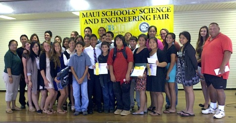 Both Molokai students and teachers were honored last Thursday at the 54th annual Maui Schools' Science and Engineering Fair. Photo courtesy Kimberly Svetin.