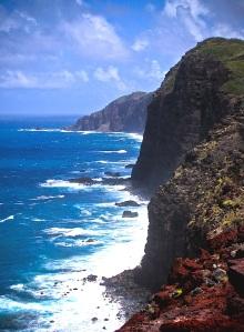 The rugged Mokio Point shoreline.